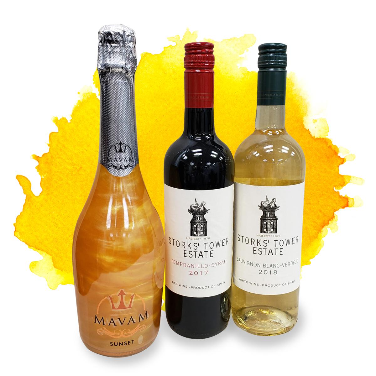 インスタ映えラメ入りキラキラスパークリングマバム スペインワイン赤白お買い得セット #オンライン飲み会 セール特別価格 #オンライン女子会 #リモート女子会にも 日本製