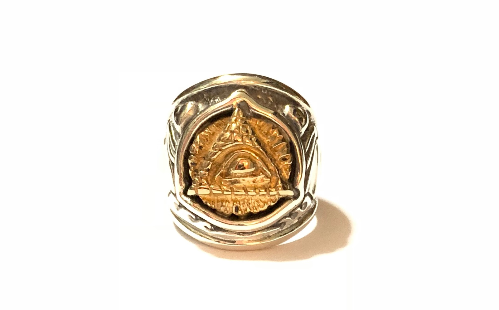 Bill Wall Leather×Jeff Decker [-Dome Ring with Pyramid Eye(#103)-]