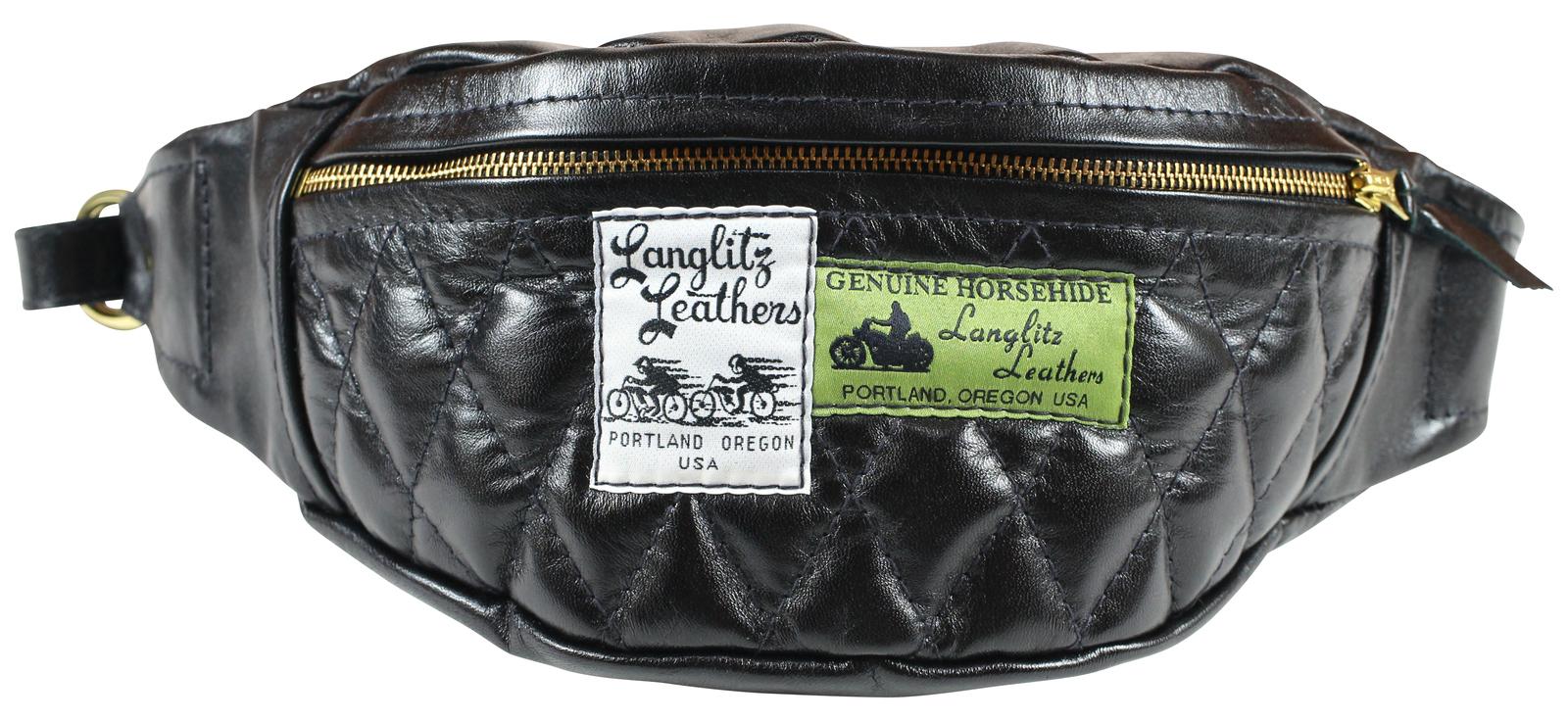 LanglitzLeathers [-Horsehide Hip Hugger inside Pocket- BLACK]
