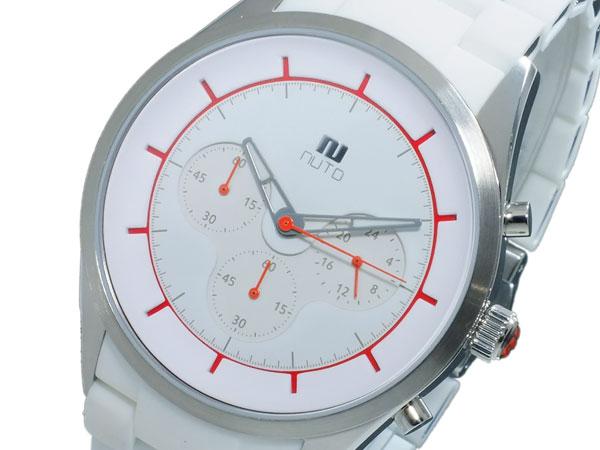 ヌーティッド NUTID CRATER クオーツ メンズ クロノ 腕時計 N-1404P-C SV/WH