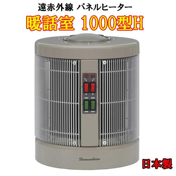 全方位遠赤外線パネルヒーター 暖話室1000型H ダストカバー付