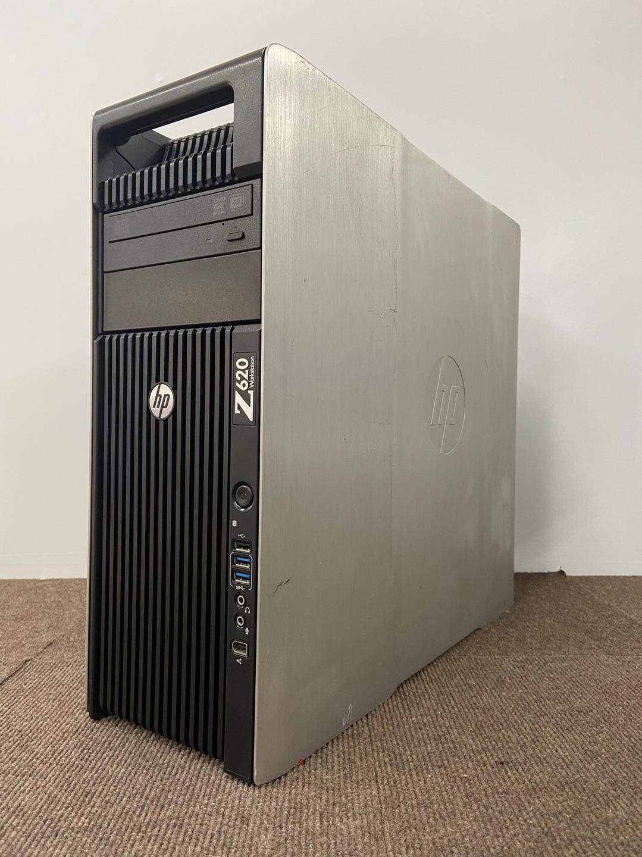 【中古】[CAD用PC!!] HP WorkStation Z620 E5-2680 8Core 2.70GHz 水冷式/メモリ64GB/SSD 256GB/SATA 1TB/NVIDIA Quadro K4200 4GB/Win10 Pro