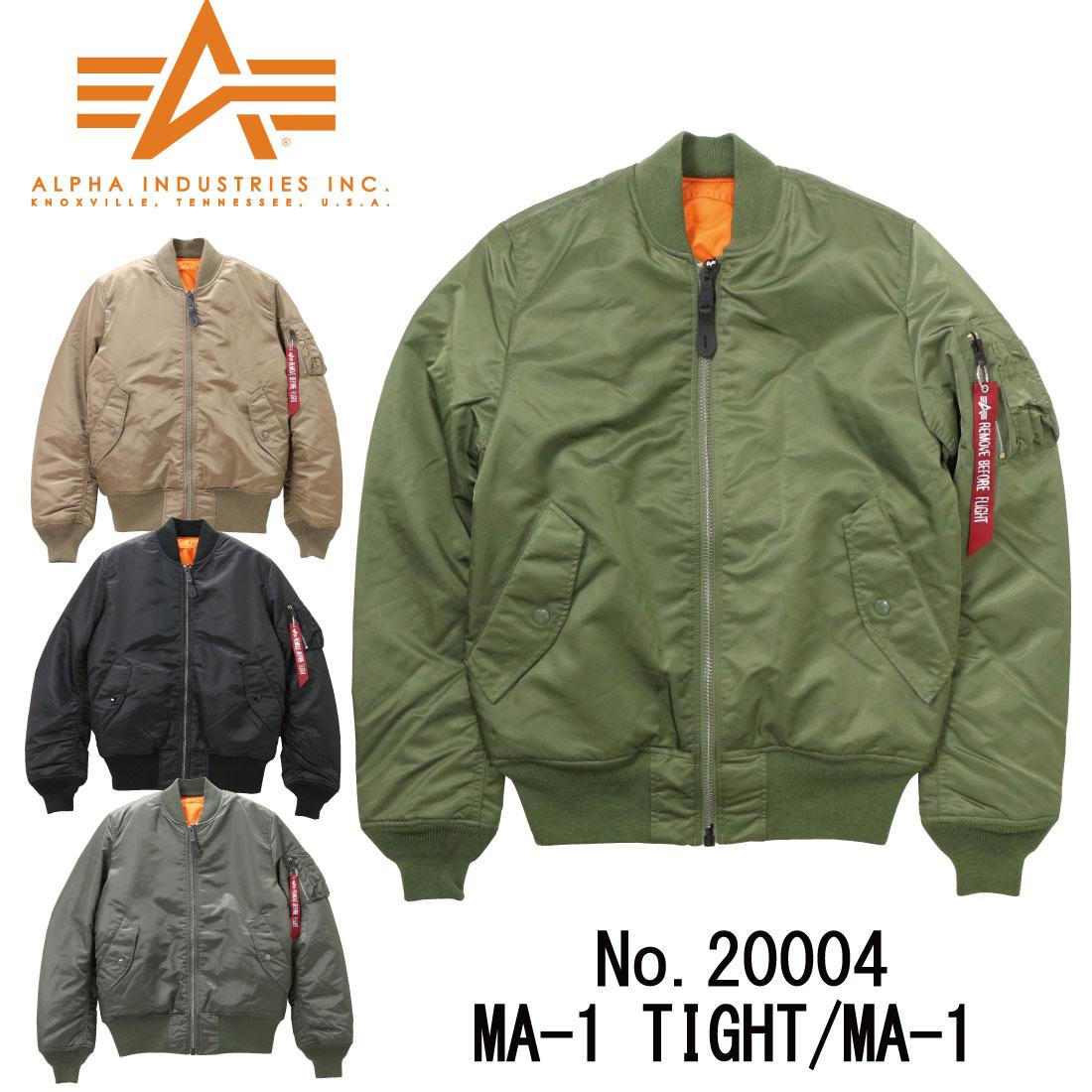 ALPHA アルファ MA-1 アウター ジャケット 20004 長袖 タイト フライトジャケット ミリタリー メンズ インダストリーズ 正規 401 403 412 476