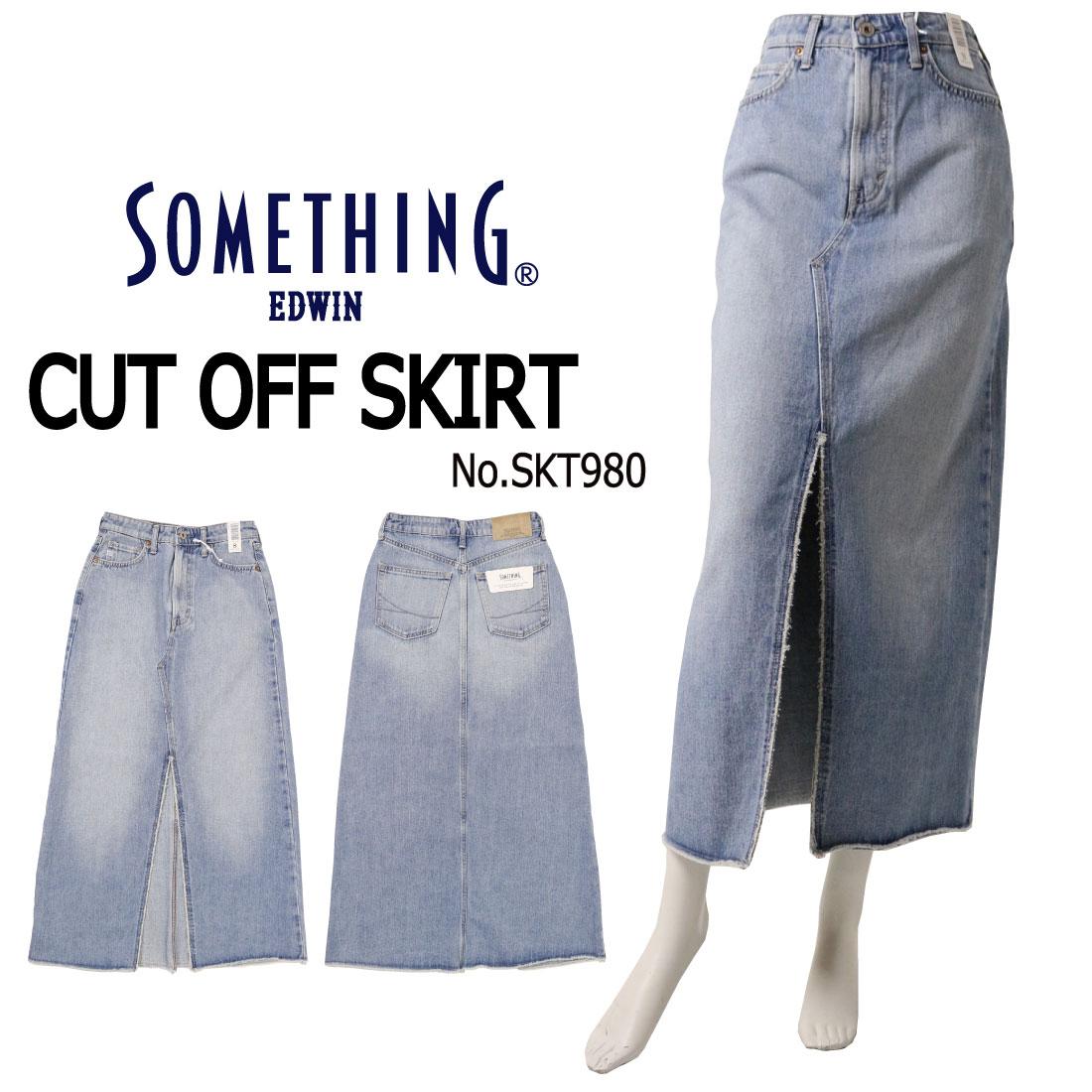 SOMETHING サムシング スカート スリット カットオフ SKT980 淡色 94 レディース ボトムス 送料無料