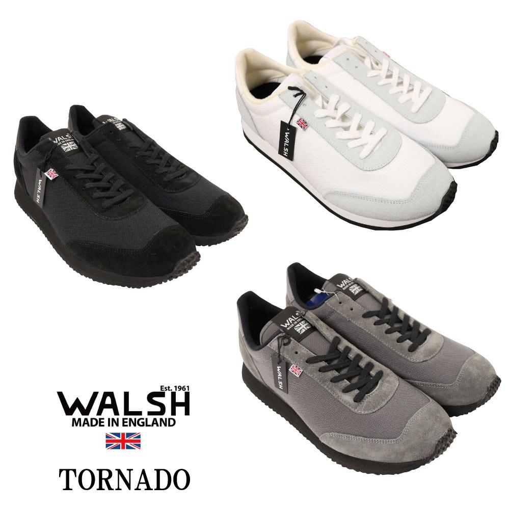 WALSH ウォルシュ スニーカー TORNADO17 ランニング シューズ スポーツ 機能性 大人 スニーカー BLK WHT GRY メンズ スニーカー 靴