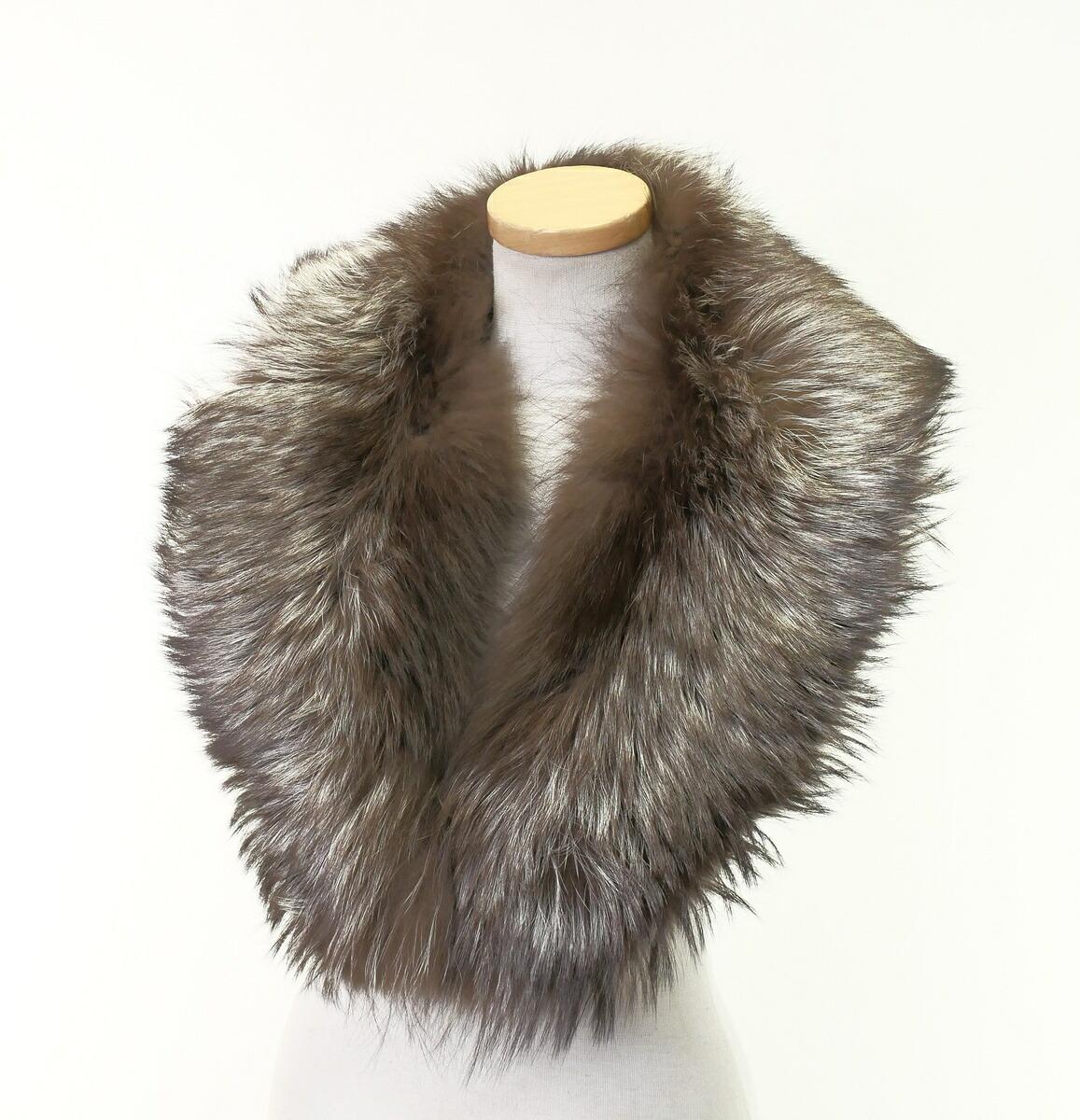 高級毛皮 FOX フォックス ファー リアルファー ティペット ブラウン ホワイト 襟巻 マフラー 中古 コート ドレス GE3904 小物 パーティー アクセサリー 買取 フォーマル 格安 価格でご提供いたします ストール 20210108