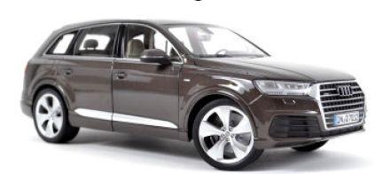 【予約】アウディ特注 Audi Q7 2015 Argusbrown /ミニチャンプス 1/18 ミニカー