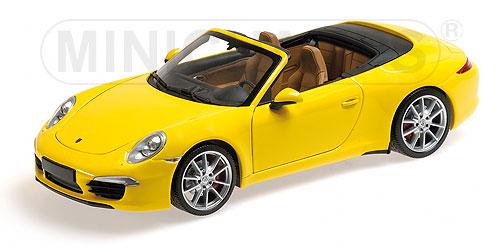PORSCHEポルシェ 911 991 CARRERA S CABRIOLET 2012 | YELLOW /Minichampsミニチャンプス 1/18 ミニカー