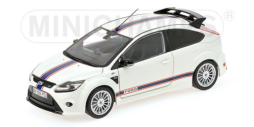 FORDフォード ENGLAND FOCUS RS500 2010 LE MANS MKIIB TRIBUTE EDITION 1967 | WHITE BLUE /Minichampsミニチャンプス 1/18 ミニカー