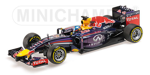 RED BULL | F1 RB10 N 1 SEASON 2014 SEBASTIAN VETTEL | BLUE MET VIOLET MET RED YELLOW /Minichampsミニチャンプス 1/18 ミニカー