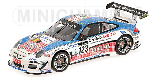 PORSCHEポルシェ | 911 997-2 GT3 R TEAM MUEHLNER MOTORSPORT N 123 24h SPA 2011 A.FUMAL - J.THIRY - C.ROSENBLAD - C.LEFORT | WHITE BLUE RED /Minichampsミニチャンプス 1/18 ミニカー