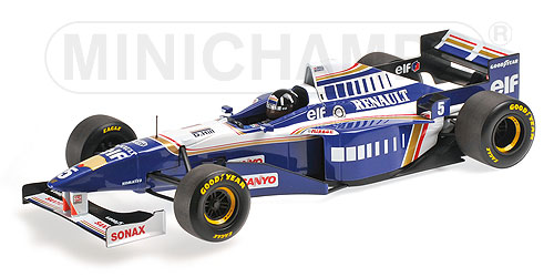WILLIAMS | F1 FW18 RENAULT N 5 DAMON HILL 1996 WORLD CHAMPION | BLUE WHITE /Minichampsミニチャンプス 1/18 ミニカー