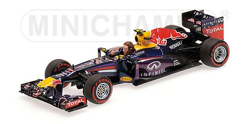 RED BULL | F1 RB9 N 2 BRAZILIAN GP 2013 LAST RACE M.WEBBER | BLUE RED YELLOW /Minichampsミニチャンプス 1/43 ミニカー