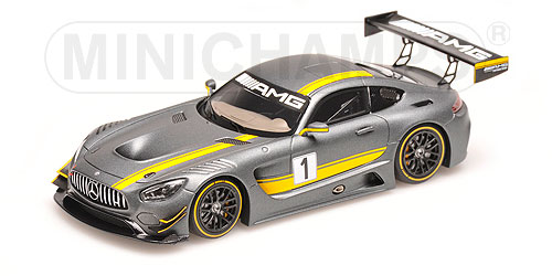 MERCEDES BENZメルセデスベンツ | GTS AMG GT3 N 1 PRESENTATION HOCKENHEIMRING 2015 | MATT GREY YELLOW /Minichampsミニチャンプス 1/43 ミニカー