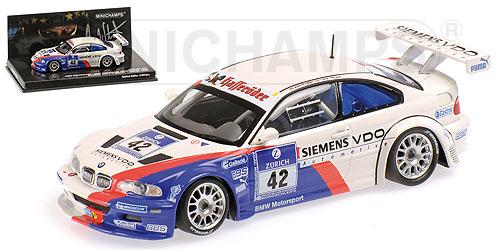 BMW | M3 GTR N 42 WINNER ADAC 24h NURBURGRING 2004 MUELLER - STUCK - LAMY | WHITE /Minichampsミニチャンプス 1/43 ミニカー