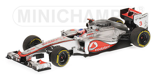 MERCEDES GP | F1 MP4-27 N 3 RACE VERSION 2012 JENSON BUTTON | SILVER RED /Minichampsミニチャンプス 1/43 ミニカー