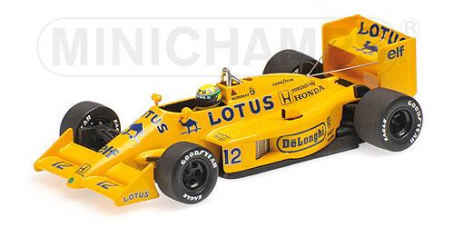 LOTUS | F1 HONDAホンダ99T N 12 SEASON 1987 AYRTON SENNA | YELLOW /Minichampsミニチャンプス 1/43 ミニカー