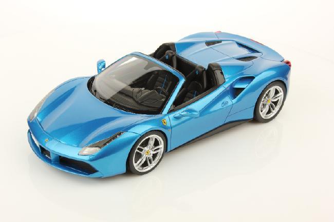 【予約】Ferrariフェラーリ 488 Spider Blu Spyder アルカンターラ台座付き /MRコレクション 1/18 レジンミニカー