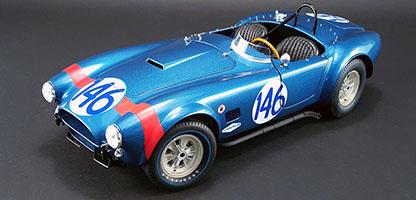 【予約】7月以降発売予定#146 Shelby Cobraシェルビーコブラ Dan Gurney/ Jerry Grant - 1964 Targa Florio Class Champion /GMP 1/12 ミニカー
