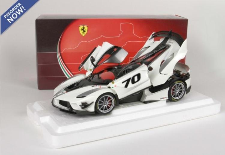 【予約】6月以降発売予定Ferrariフェラーリ FXXK-EVO DIE CAST Bianco Italia Metal /BBR 1/18 ミニカー
