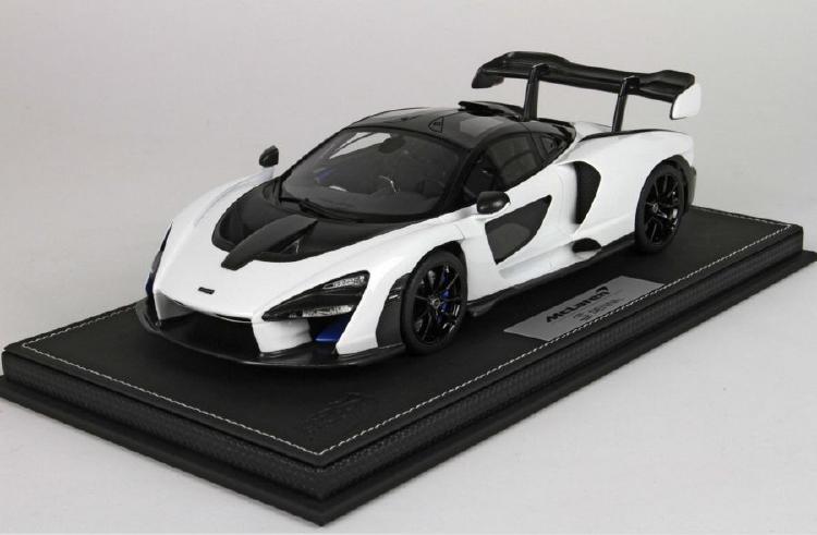 【予約】McLaren Sennaマクラーレン セナSalon Int. De L'Auto Geneve 2018 Pure White /BBR 1/18 レジンミニカー