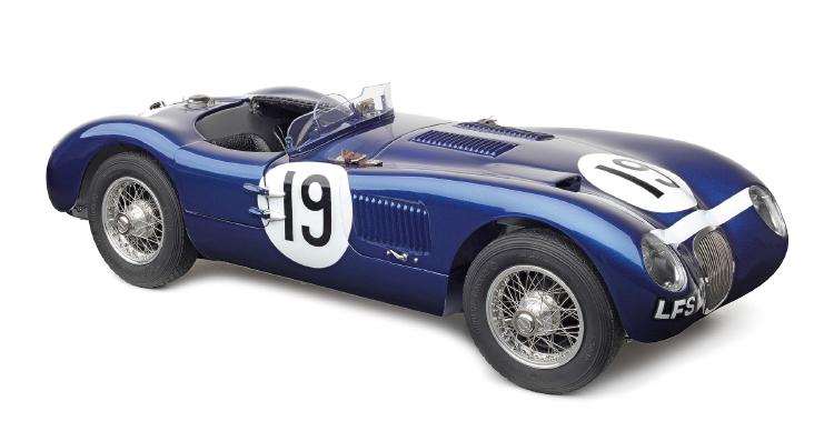 【予約】2019年3月以降発売予定Jaguarジャガー C-Type,1954 ブルー Ecurie Ecosse #19 Jimmy Stewart /CMC 1/18 レジンミニカー