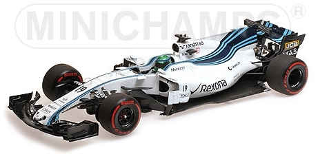 WILLIAMS F1 FW40 TEAM MARTINI RACING N 19 ABU DHABI GP 2017 F.MASSA /Minichampsミニチャンプス1/18 ミニカー