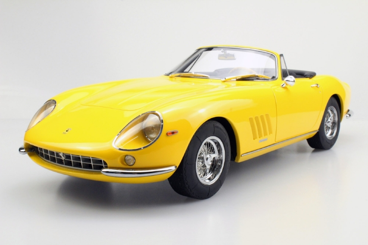 FERRARIフェラーリ 275 GTB/4 NART SPIDER 1967 yellow /Top Marques 1/12 ミニカー