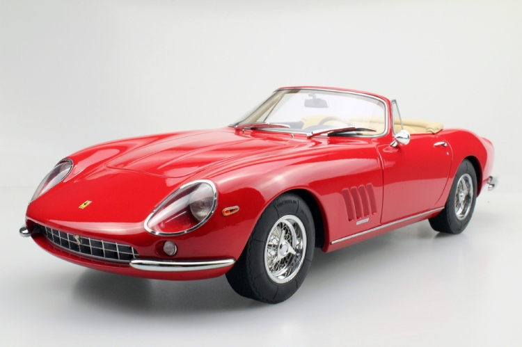 FERRARIフェラーリ 275 GTB/4 NART SPIDER 1967 赤 / tan interior /Top Marques 1/12 ミニカー ラストホビー