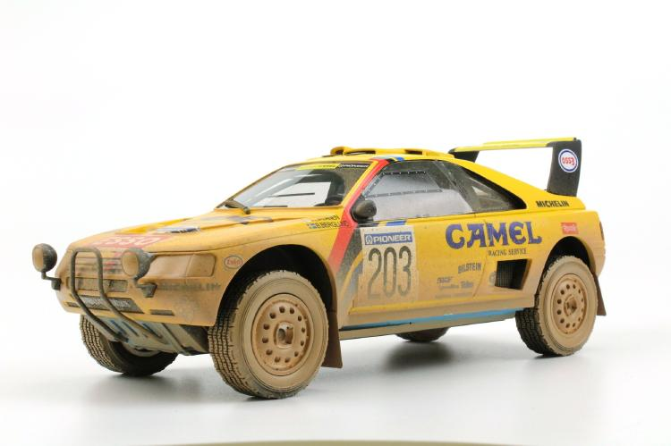 【予約】6月以降発売予定Peugeotプジョー 405 GT T-16 Paris Dakar Winner 1990 dirty /TOPMARQUES 1/18 ミニカー