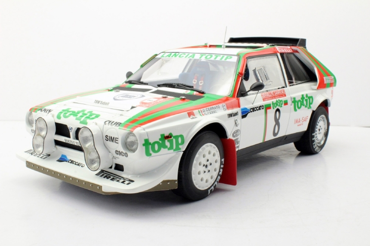 【予約】2019年5月以降発売予定Lancia Delta S4 1986 San Remo totip Version /Top Marques 1/12 レジンミニカー