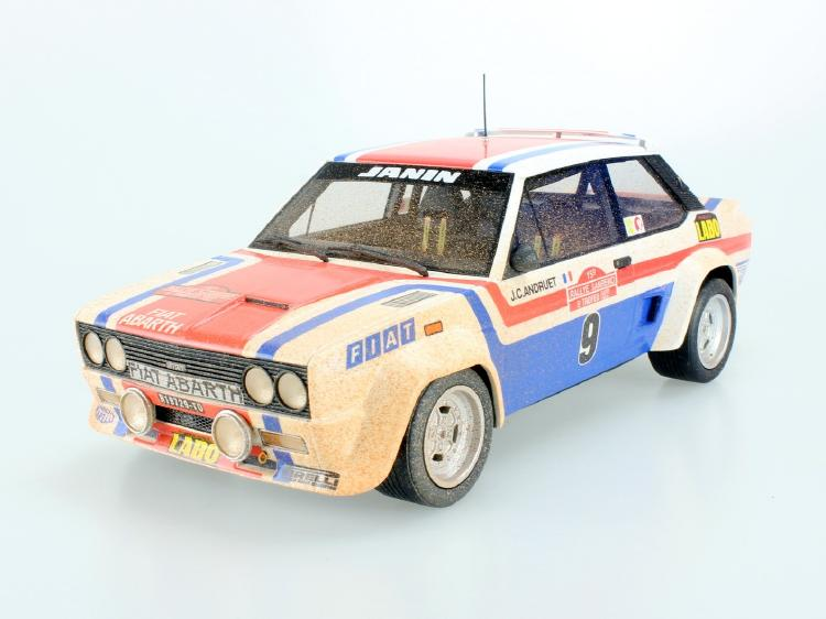 Fiat 131 Abarth 1977 San Remo Winner dirty /TOPMARQUES 1/18 ミニカー