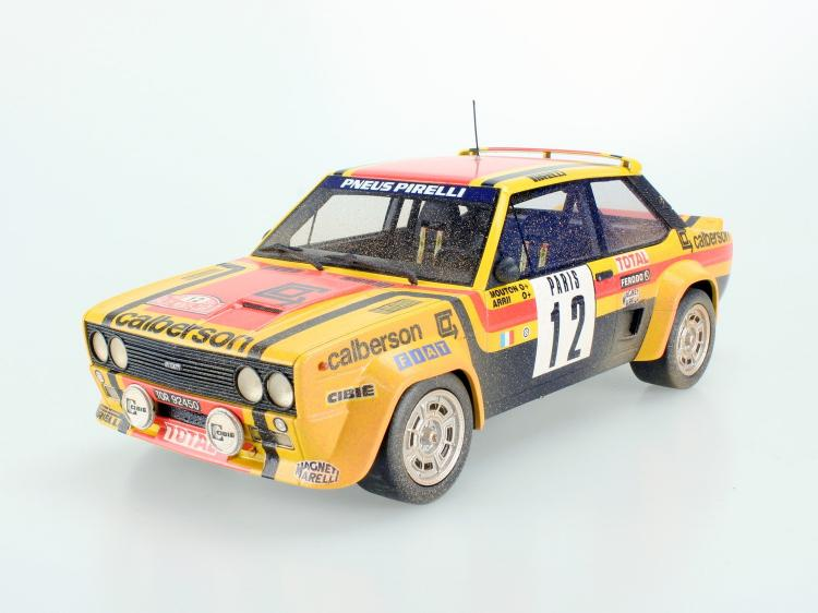Fiat 131 Abarth 1980 Rally Montecarlo dirty /TOPMARQUES 1/18 ミニカー