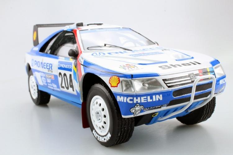 【予約】9月以降発売予定Peugeotプジョー 405 GT T-16 Paris Dakar Winner 1989 /TOPMARQUES 1/18 レジンミニカー