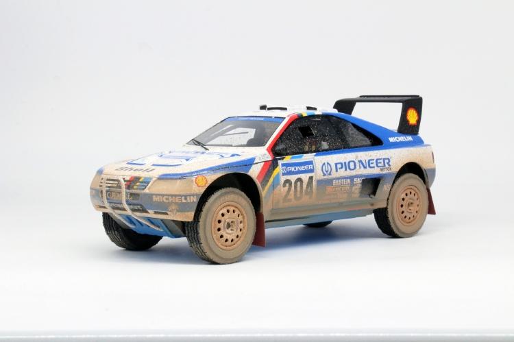 【予約】9月以降発売予定Peugeotプジョー 405 GT T-16 Paris Dakar Winner 1989 dirty /TOPMARQUES 1/18 レジンミニカー
