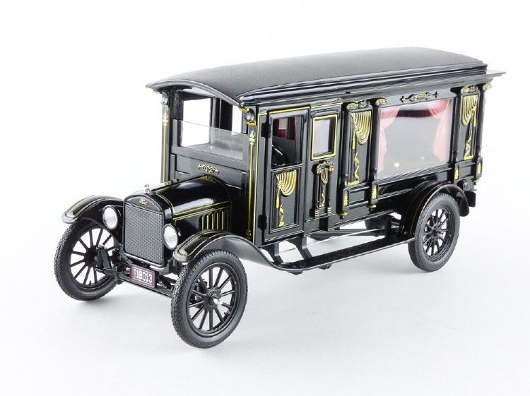 FORD USA - MODEL-T 1921 - HEARSE - CARRO FUNEBRE CON BARA - FUNERAL CAR WITH COFFIN /Greenlight PRECISION COLLECTION 1/18 ミニカー