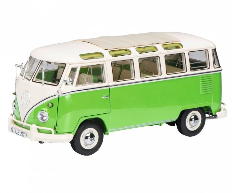 VWフォルクスワーゲン T1b Samba グリーン/ホワイト /Schuco 1/18 レジンミニカー