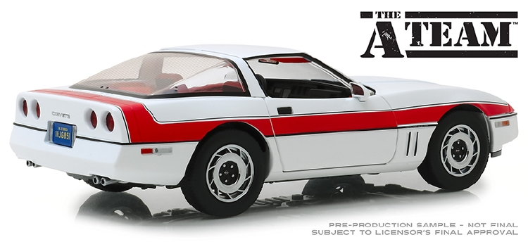 1984 Chevrolet Corvette C4 - The A-Team (TV Series, 1983-87) /緑light 1/18 ミニカー