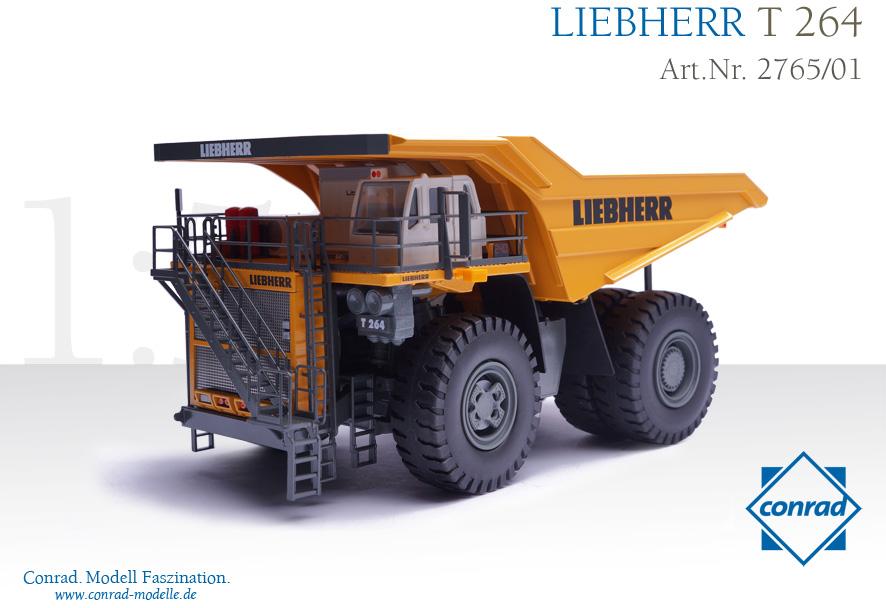 LIEBHERRリープヘル T264 ダンプトラック イエロー/CONRAD 1/50 建設機械模型 ミニカー