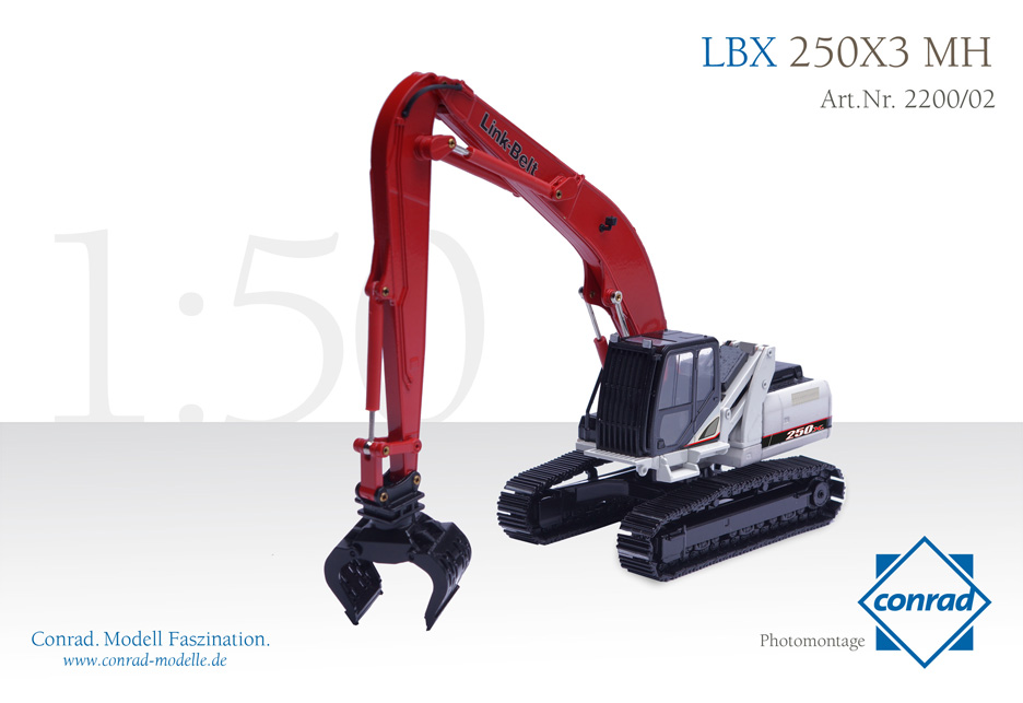 LBX 250X3 MH Hydraulic excavator with metal tracks