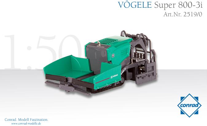VOGELE Super 800-3i Tracked paver 舗装車 /Conrad 建設機械模型 工事車両 1/50 ミニチュア