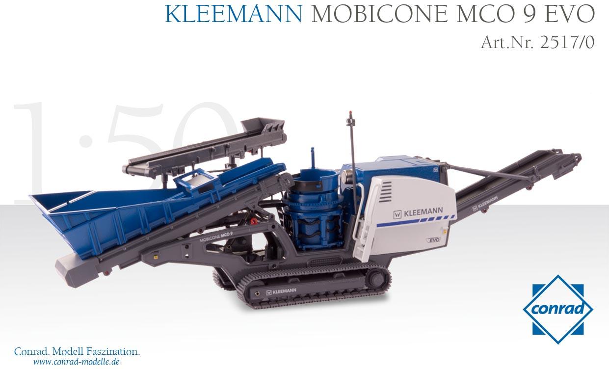 KLEEMANN Mobicone 9 EVO Track-mounted cone crusher舗装車 /Conrad 建設機械模型 工事車両 1/50 ミニチュア