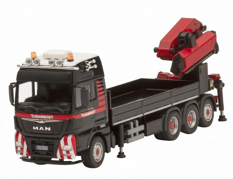 ミニチュア模型ミニカー マムート特注MAMMOET MAN TGX WITH LOAD CRANE Conrad 1/50 建設機械 模型ミニカー トラック はたらく車重機