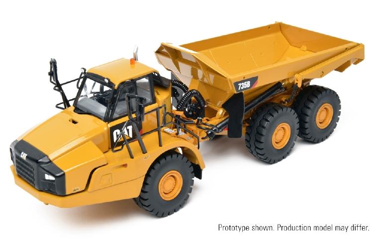 【予約】Cat 735B Articulated ダンプトラック 建設機械模型 工事車両CCM 1/48 ミニチュア