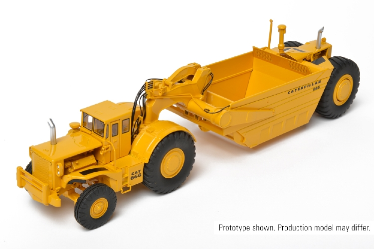 Cat 666 80トン Wheel Tractor-Scraper スクレーパーホイールローダ CCM 1/48 建設機械 模型ミニカー はたらく車重機