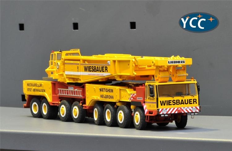【予約】8月以降発売予定LIEBHERRリープヘル LTM1800 Wiesbauer リミテッドエディション 135台限定 モバイルクレーン/建設機械模型 工事車両 1/50 ミニチュア