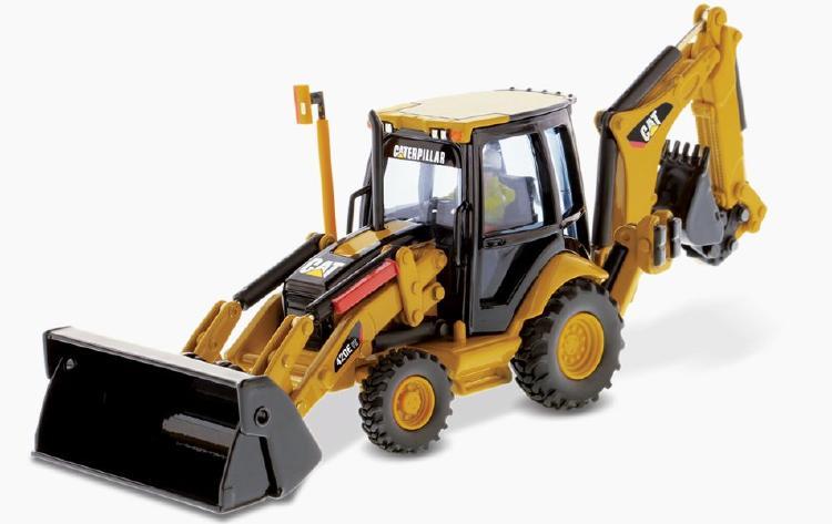 Cat 420E バックホー Loader (Pivot) ショベル  /ダイキャストマスターズ 建設機械模型 工事車両 1/50 ミニチュア