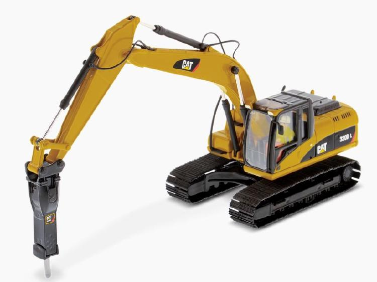 Cat 320D L Excavator w/ Hammer ショベル  /ダイキャストマスターズ 建設機械模型 工事車両 1/50 ミニチュア