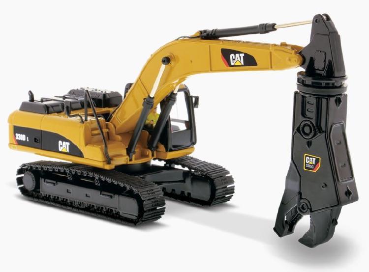 Cat 330D L Hydraulic Excavator w/ Shear ショベル  /ダイキャストマスターズ 建設機械模型 工事車両 1/50 ミニチュア