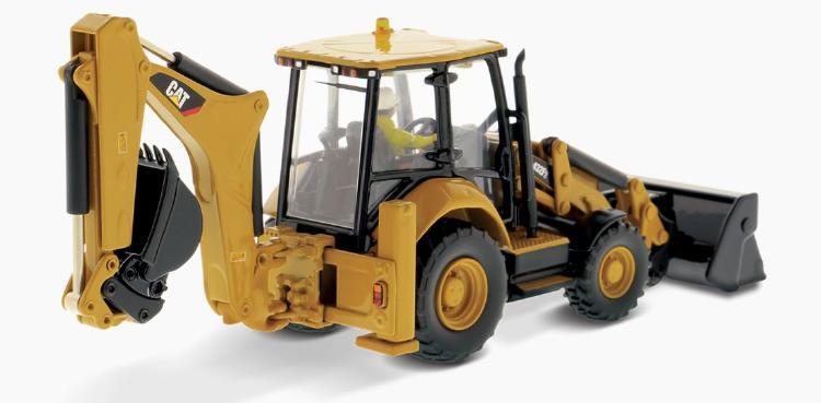 【予約】6-8月以降発売予定Cat 432F2 Side Shift バックホー ショベル  /ダイキャストマスターズ 建設機械模型 工事車両 1/50 ミニチュア